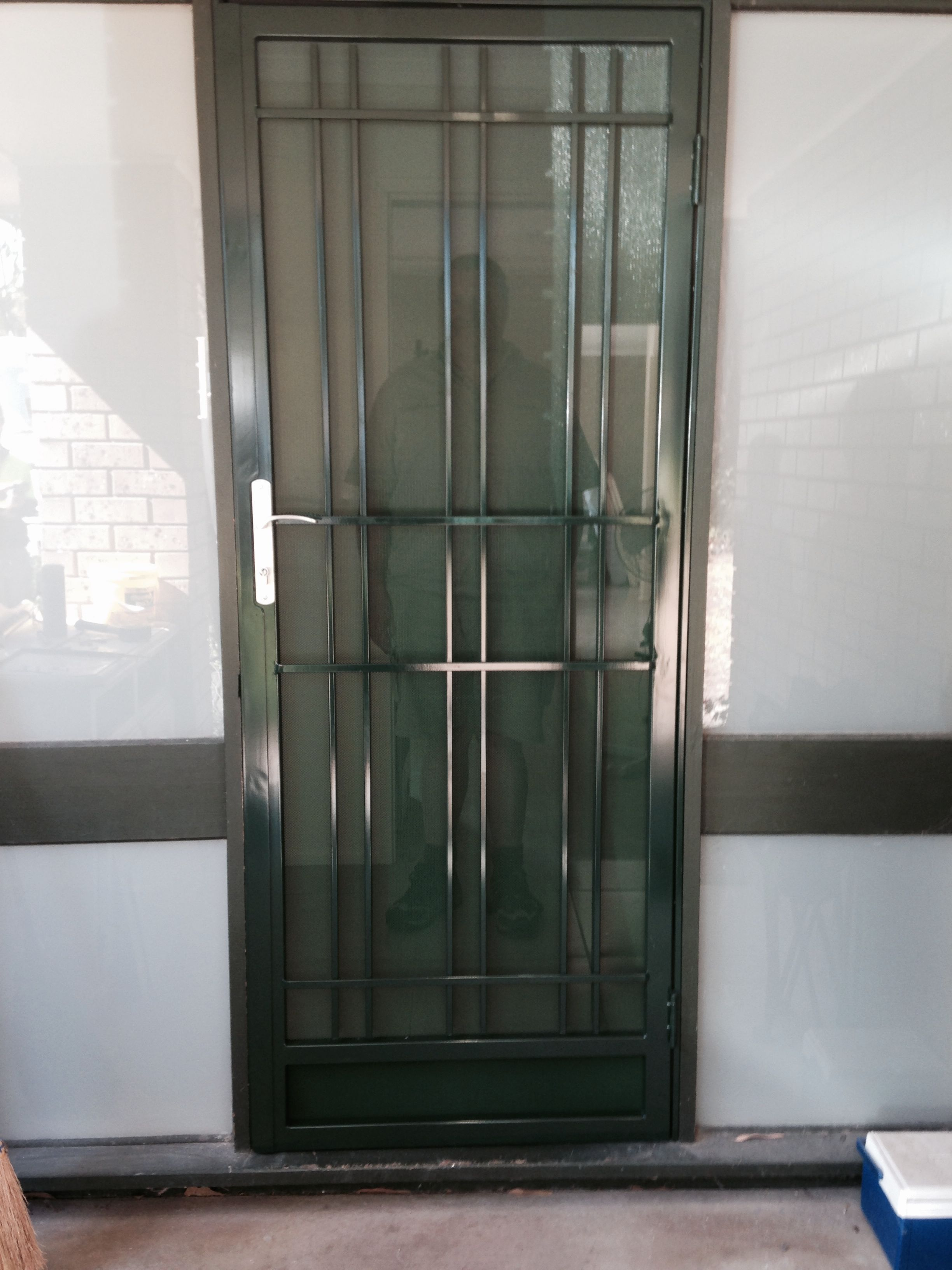 Steel security doors croydon melbourne east for Metal security doors